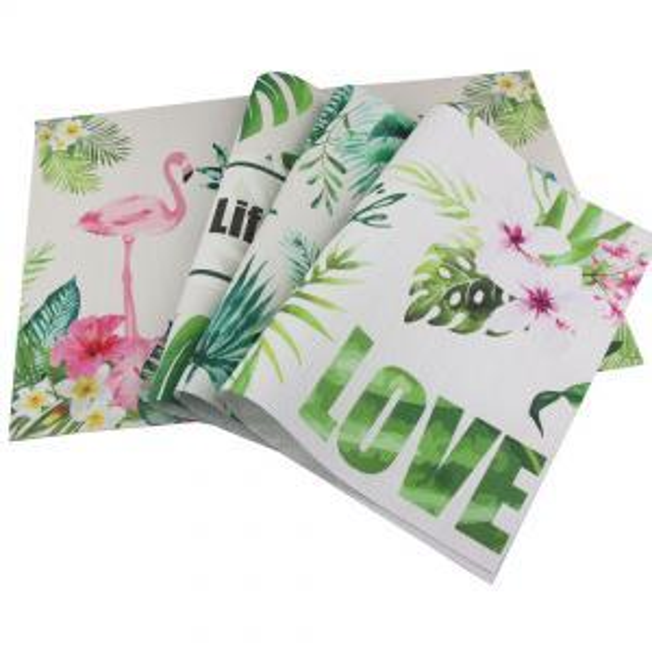 Flamingos Pflanzen PVC Rechteck Tischset Wasserdichte Wärmedämmung Sauber Esstisch Mat Rutschfeste Pad 45X30 CM PPA123