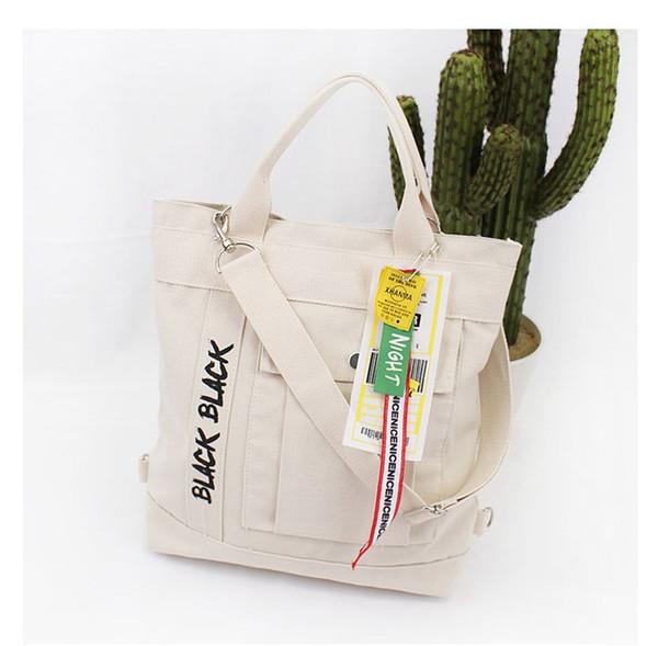 2019 designer art toile sac à dos mode multi-fonctionnelle unique-épaule messenger bag grande capacité lettre handbag # 40
