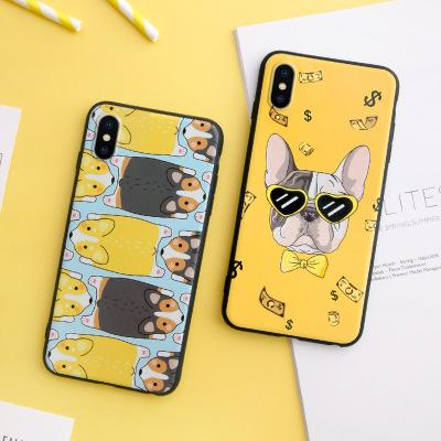 Creative dog Pattern Shockproof Frosted Soft Back Cover Silicone Cell Phone Case Protective Covers For iPhone X XR XS MAX 6 6S 7 8 PLUS