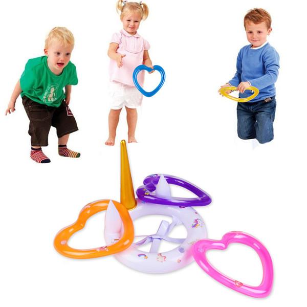 Giocattoli gonfiabili di nuoto dell'anello dell'ornitorinco per i bambini Giochi di tiro della piscina Giocattoli per i favori dei bambini Forniture Decorazioni del partito