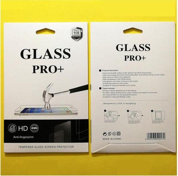 Boîte de détail Paquet d'emballage en papier sac pour Protecteur d'écran en verre trempé pour pour ipad air2 5 6 234 Mini Nouveau ipad 2017