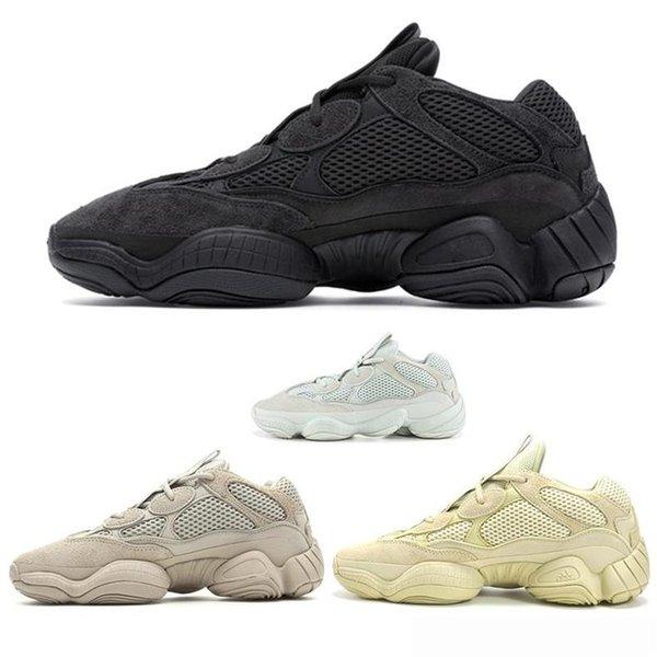 ANEW Release Kanye West Кроссовки Salt Super Moon Желтый Румяна Кроссовки Мужчины Женщины мода роскошные мужские женские дизайнерские сандалии обувь