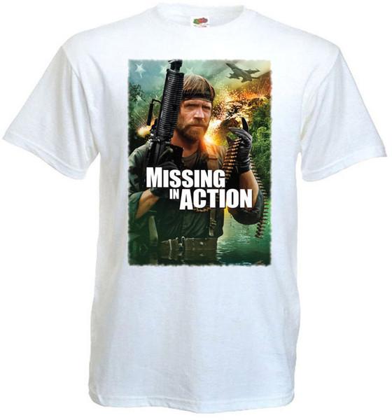 Missing In Action 1 V1 T-Shirt White Poster All Sizes S-3XL T-Shirt Men Print Custom Short Sleeve Boyfriend's 3XL Couple T-Shirts