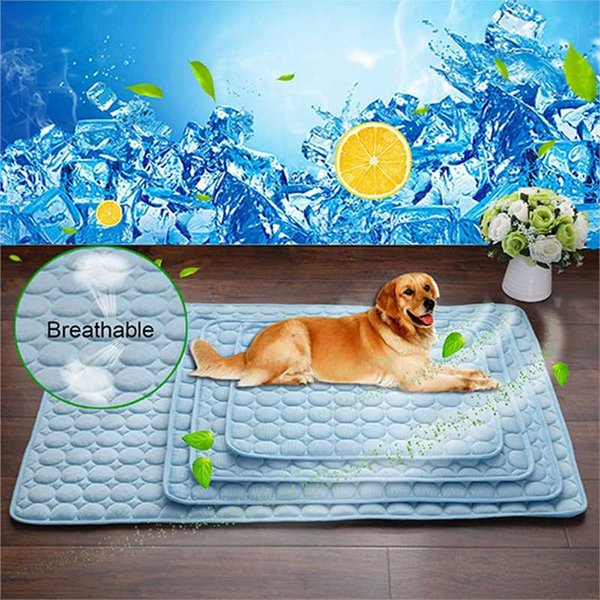 1pc Cooling Pet Cushion Beds For Summer Dog Cat Cushions For Travel Car Seat Mat Plaid Easy Clean Dogs Supplies