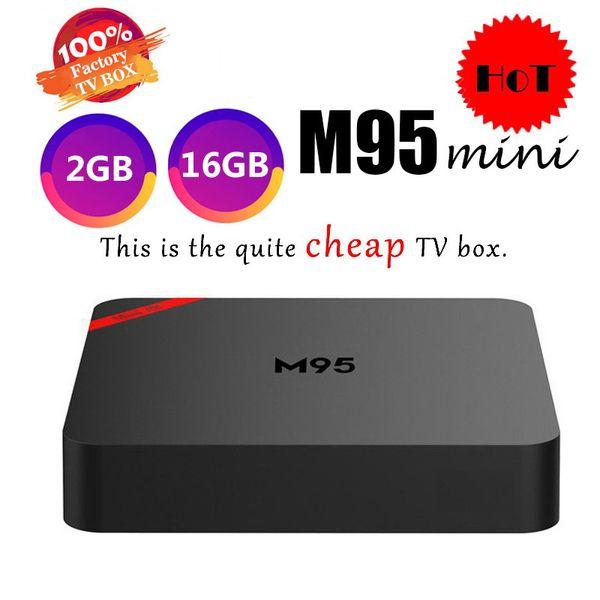 1 PCS Original M95 SE 1GB 8GB 2GB 16GB Android 7.1 TV Box 2.4G wifi Allwinner H3 Quad Core PK H96 MINI TX3 T95Q S905X2 S905W Media Player