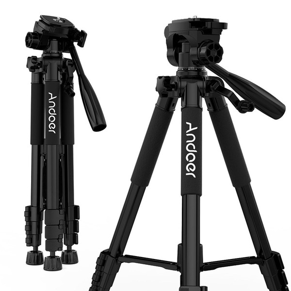 Professional Camera Tripod Portable Travel Aluminum Photography Camera tripod Stand Holder for SLR DSLR Camcorder with Carry Bag Phone Clamp