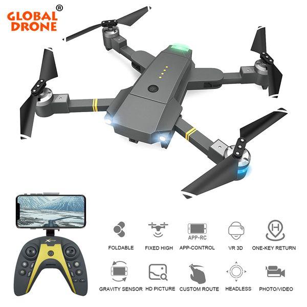 HD Kamera Ayarlanabilir Servo Gimbal FPV Follow Me Profissional Quadcopter Dron Drone X PRO Global Drone FPV RC Drones