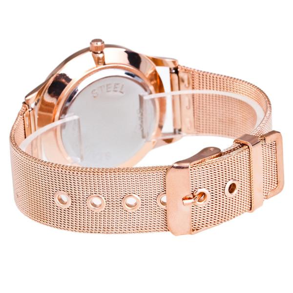New Fashion Female Clocks Women Luxury Quartz Watch Rose Gold Watch Bracelet Case kadin kol saati zegarki damskie women clock