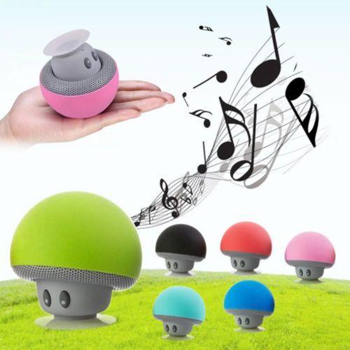 Cartoon Mushroom Style Mini Bluetooth Speaker Wireless Stereo Music Player Hands Free Audio Player With Sucker For Smart Mobile Phone