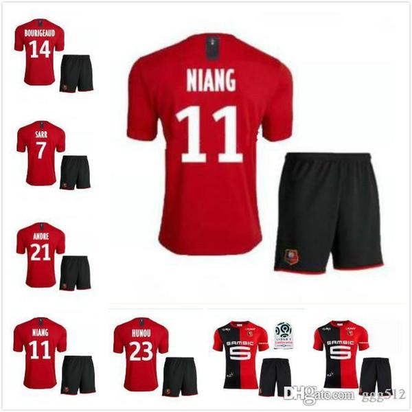 terno adulto! Stade Rennais camisas de futebol 19-20 Início 2019 2020 Rennes camisas de futebol maillot de pé Sarr Niang Bourigeaud Andre Hunou