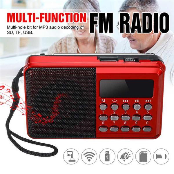 Tragbares Radio Handheld Digital FM USB TF MP3-Player Radioempfänger DC 5V 0.5A Lautsprecher USB-Ladekabel