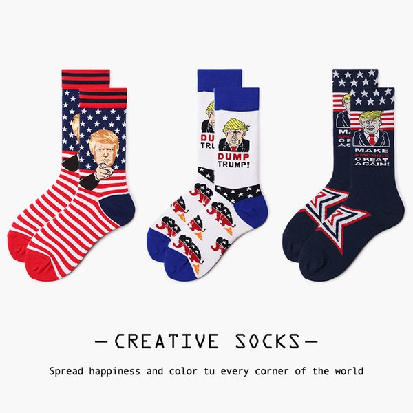 Stockings Male Female Lovers Trump 2020 Socks New Products Sock Wild Joker Cotton Middle Cylinder Many Colour 4 25ou p1
