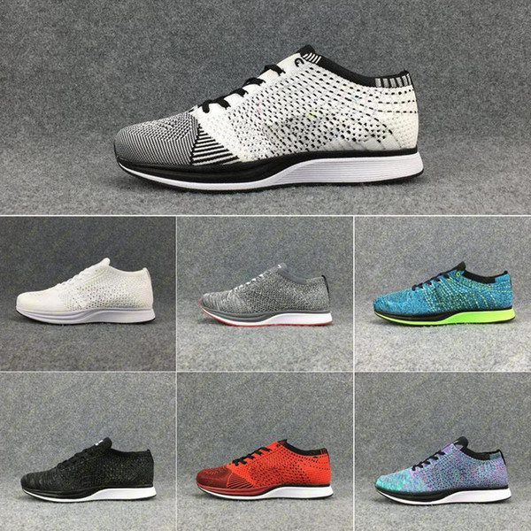 Fly Men Women Racer Running Shoes Free Shipping Top Quality Lightweight Breathable Athletic Outdoor Sneakers SIZE 36-45
