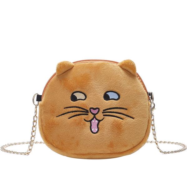 New plush cat chain shoulder bag Korean Messenger bag cartoon cat fashion handbag