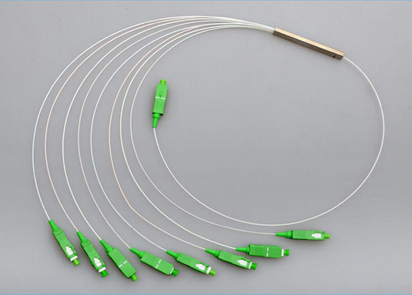 10pcs HOT NEW Steel Tube 1x8 Differential Mini Blockless SC/APC Connector 1*8 Fiber Optic PLC Splitter Wire harness Wholesale
