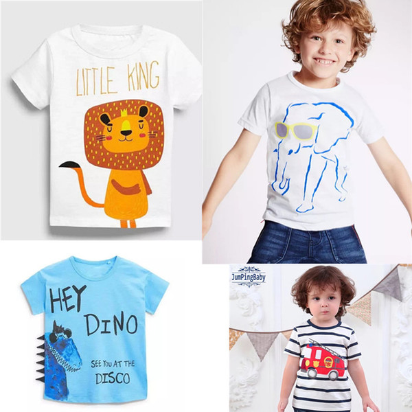 975b3eae3 Designing Baby Embroidery Summer Infant Cotton Children Boys Girls Tee  Cartton Tortoise Elephant Dragon Girls Short Sleeve T-shirts For Kids
