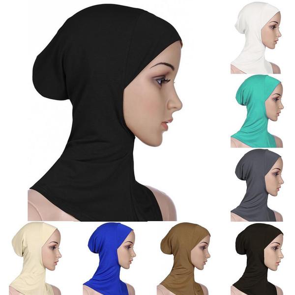 2019 Popular Soft Muslim Bonnet Full Cover Inner Women's Ladies Hijab Headscarf Wraps Cap Islamic Underscarf Neck Head Hat
