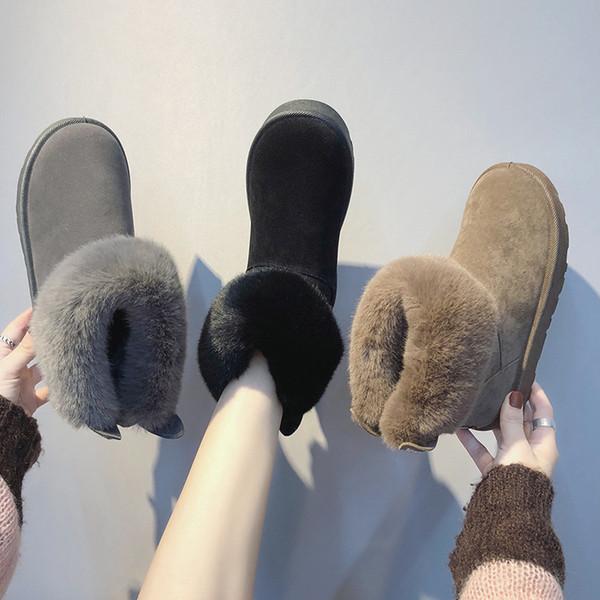 Зимние ботинки женщин среднего теленок вниз Boots Высокие Водонепроницаемые дамы снег зимняя обувь женщина Плюшевые Стелька Botas Mujer Invierno Z11-49