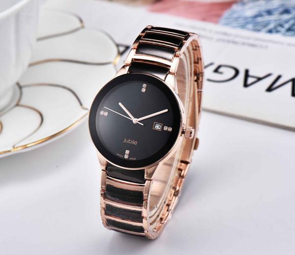 RA Lüks Lady İzle DO Moda Kadınlar Paslanmaz Çelik Kuvars İzle ile Ünlü Tasarımcı Marka Kadınlar Casual saatler