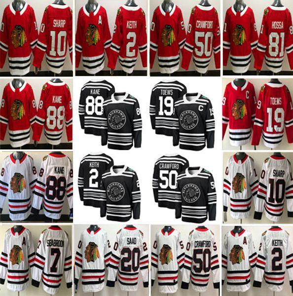 Jeder Name Chicago Blackhawks 2 Duncan Keith 12 Alex DeBrincat 88 Patrick Kane 19 Jonathan Toews 00 Griswold Trikots Herren Damen Kinder S-3XL