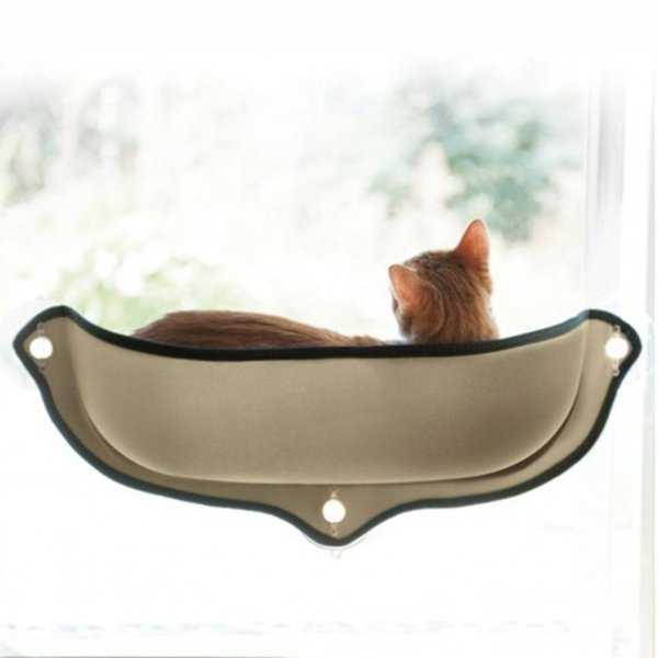 Cat Hammock Cat Perch Window Seat Suction Cups Space Saving Pet Resting Seat Soft Swing Bed Sunbath for Cats With Cushion