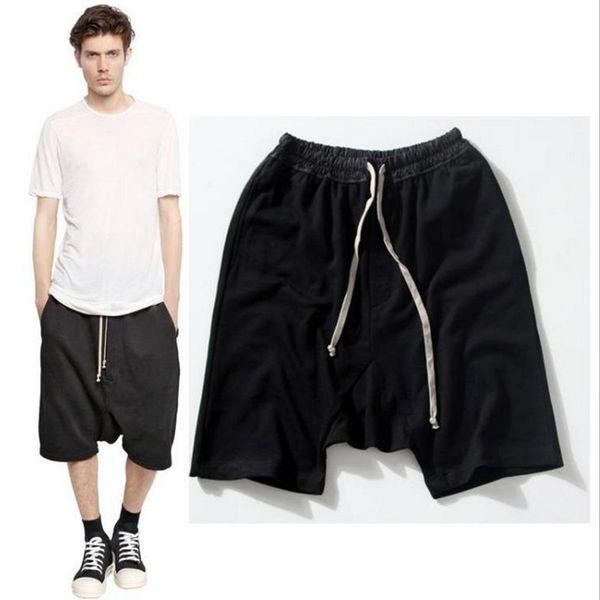 2019 New black shorts kanye west cool sweatpants 30-36 mens jumpsuit HIPHOP rock stage urban clothing owens dress harem
