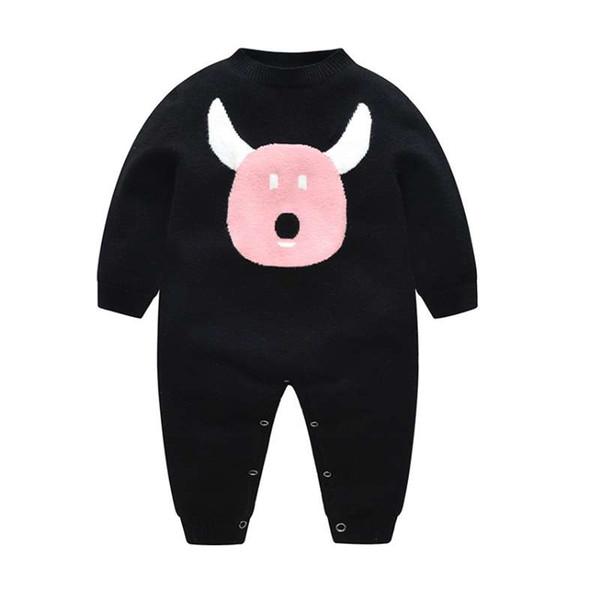 Commercio all'ingrosso pronto a magazzino dei cartoni animati graziosi bambini Maglione fatto a maglia tute per maglione del bambino con trasporto libero