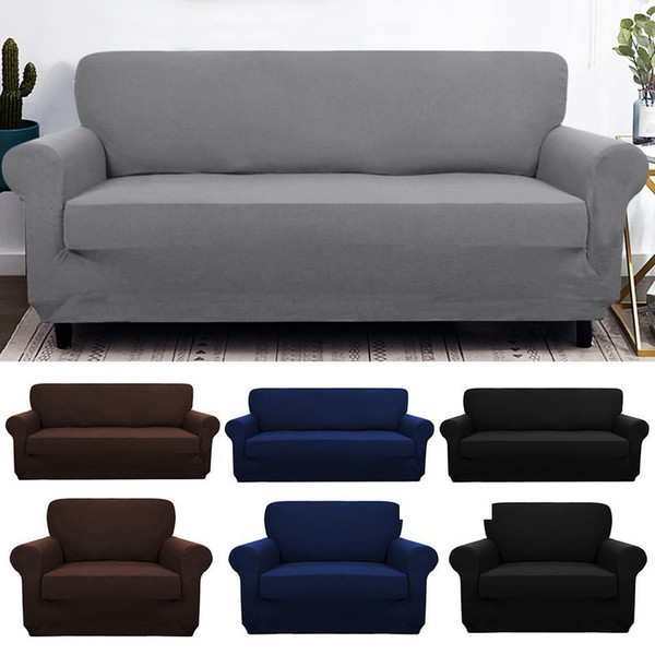 Elastic Spandex Sofa Cover Tight Wrap All Inclusive Couch Covers For Living  Room Sectional Sofa Cover Love Seat Patio Furniture Slip Covers For Sofas  ...