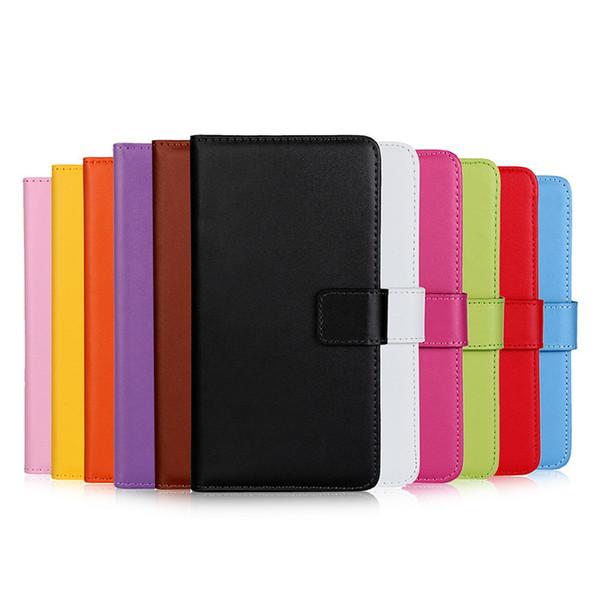 Luxus echte echte Ledertasche für iPhone 6 6 Plus iPhone X S8 S8 plus Stand Design Wallet Style Handytasche Flip Style Cover Fällen
