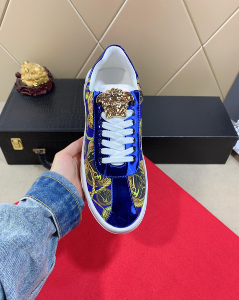 2019n fashion men's high-end handmade sports shoes casual shoes new, code 35-45, send a full set of original shoe box DHL logistics delivery