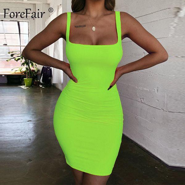 Vestito verde neon