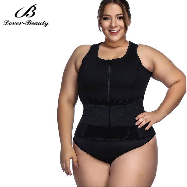 Lover-Beauty Waist Trainer Vest Hot Shaper Adjustable Sweat Belt Body Shaper Black M