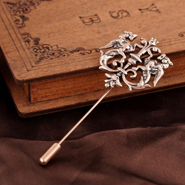 Vara de cabelo do vintage mulheres cabelo Phoenix vara Antique Bronze hairpin ouro acessórios para mulheres strass jóias