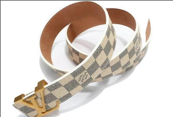 2019 Belts for Mens Snake Real Genuine Leather Business Belts Women Big Gold Buckle with original Box Black Red A121