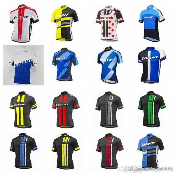 GIANT team Cycling Short Sleeves jersey new Men cycling clothes Wear Comfortable Breathable Hot New Jerseys D2832