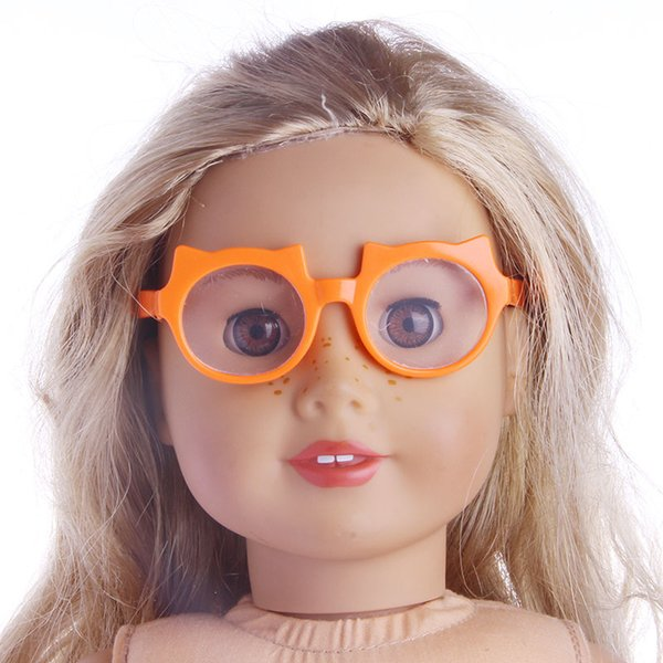 Doll Glasses 21 Patterns Beauty Doll Accessories Fit 18 Inch American Dolls & 45 Cm Born Dolls For Generation Girls Toy Doll Birthday Gifts