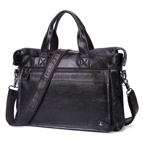 Designer New Men Business Genuine Leather Briefcase Fashion Messenger Crossbody Bag Laptop Handbags Shoulder Bag Tote Men