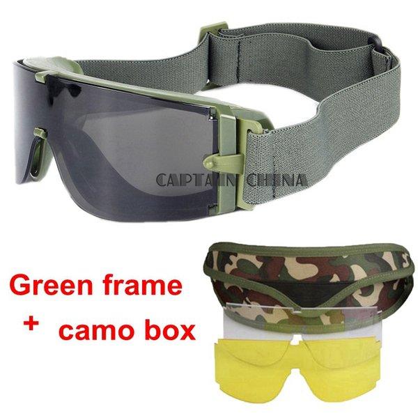 green frame camo box