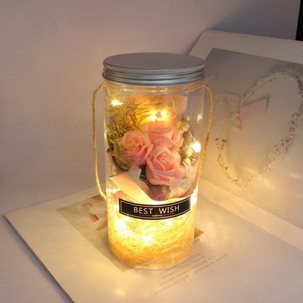 Rosa mit Lampe