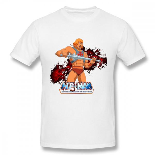 T-shirt da uomo 100% cotone con maniche corte girocollo di Streetwear vintage