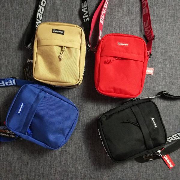 supreme backpack channel bag louis vuitton gucci mUnisex Mode Gürteltasche Männer Leinwand Hip-Hop Gürteltasche Männer Messenger Bags 18ss Kleine Schulter A04