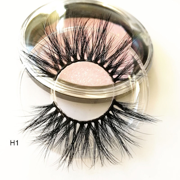 25mm Long 3D mink lashes 100% Mink Eyelashes False Eyelashes Crisscross Natural Fake lashes Length 25mm Makeup 3D Mink Lashes Extension