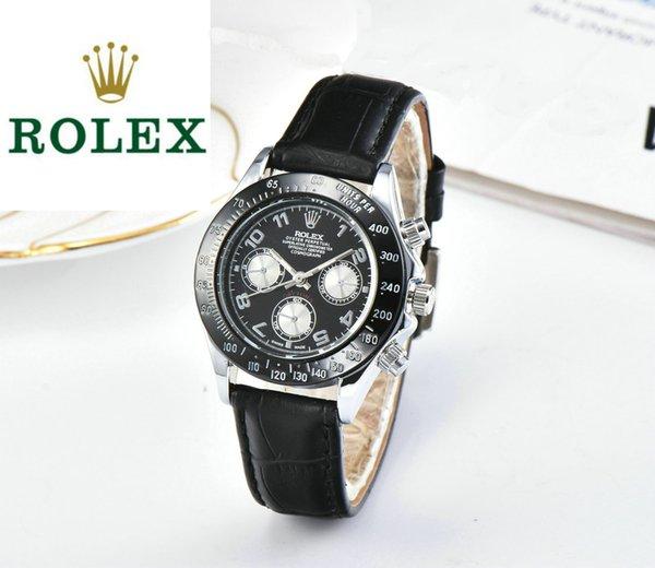 Vendita calda esplosione affari casual orologi al quarzo importati originali orologi in vera pelle da polso orologi da uomo orologi spedizione gratuita