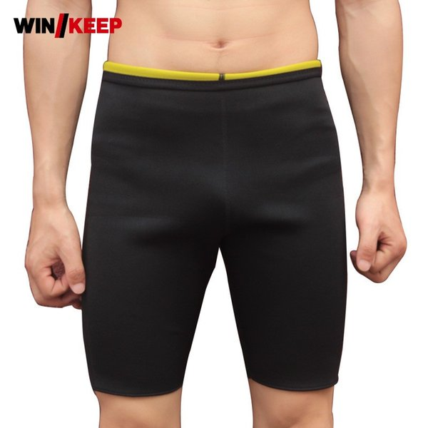 Mens profesional traje de baño traje de baño pantalones cortos deportivos cintura delgada gimnasio conducción tronco neopreno traje de baño envío gratis