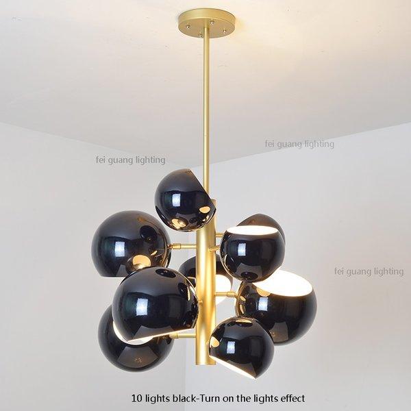 10 Leuchten schwarz