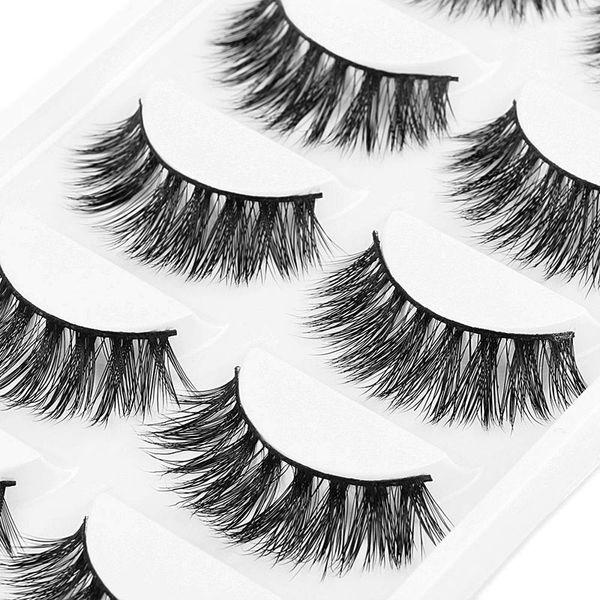 5 Pair/Box Fashion False Eyelashes Mink Hair Handmade Natural Eye Lashes Nude Makeup Extension High Quality OA66