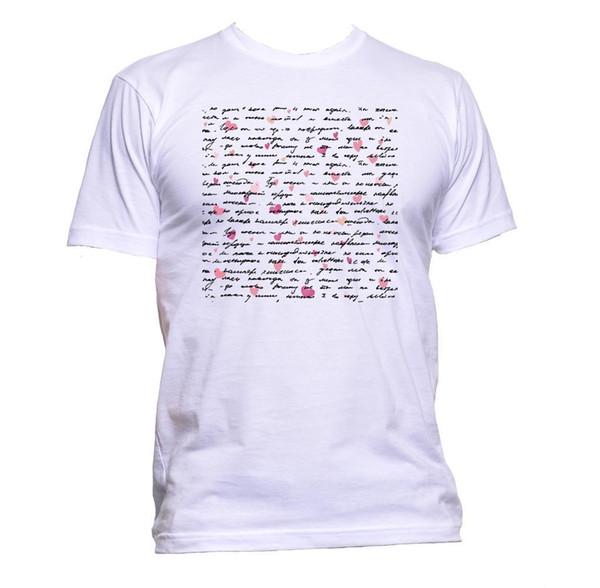 T-Shirt da uomo Love Letter T-Shirt da donna unisex Fashion Slogan Comedy Cool Funny Hipster top spedizione gratuita