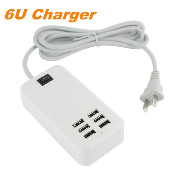 6Ports USB Desktop Multi Wall Charger Station AC Power Adapter US//EU//UK PLUG lot
