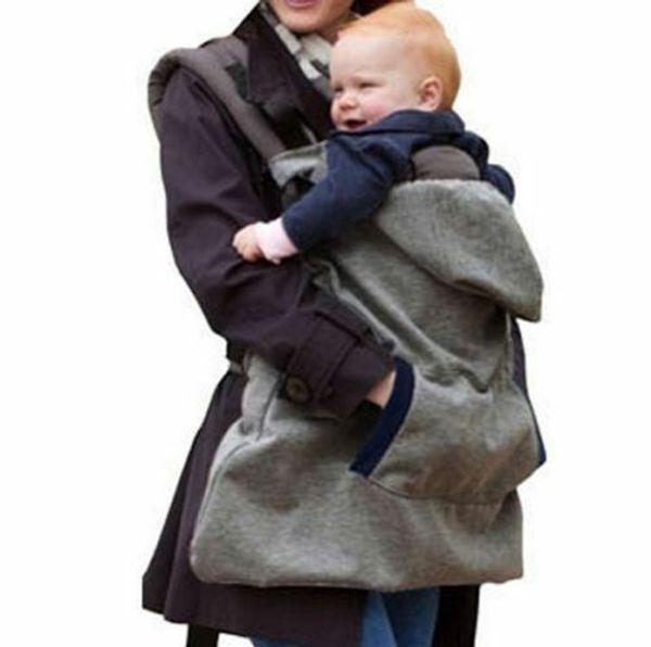 Flannelette Мода Popural Удобный Твердый Wrap Слинг Кенгуру Ветрозащитный Детский Рюкзак Одеяло Перевозчик Плащ Один Размер