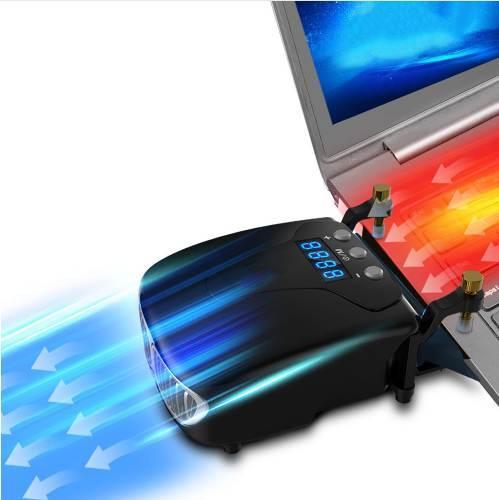 Strong Laptop Cooling Vacuum Fan External USB Silent Notebook Cooler Digital Display Adjustable Smart Model Cooler VS Pad